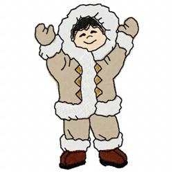 Eskimo Boy embroidery design