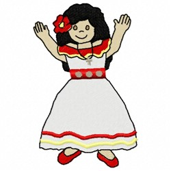 Mexico Girl embroidery design