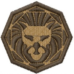 Leo Horoscope Badge embroidery design