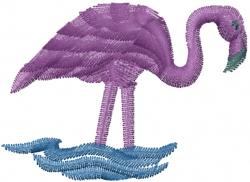 Flamingo embroidery design