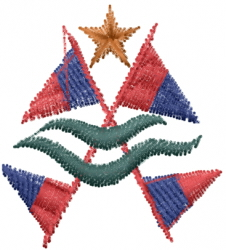 Natical Flags embroidery design