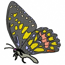 Standing Butterfly embroidery design