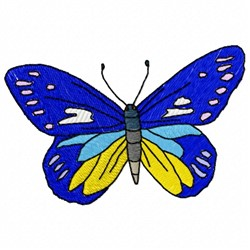 Butterfly Blue embroidery design