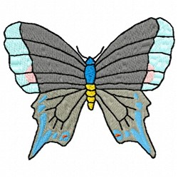Grey Butterfly embroidery design