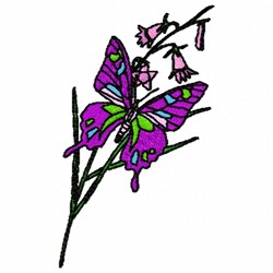 Butterfly Branch embroidery design