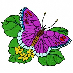 Butterfly Leaf embroidery design