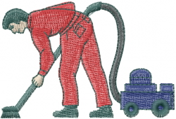 Carpet Cleaner embroidery design