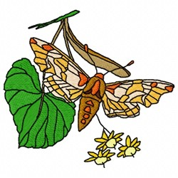 Moth Red embroidery design