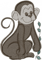 Sitting Monkey embroidery design