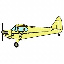 Small Plane embroidery design