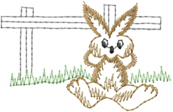 Relaxing Rabbit embroidery design