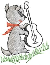 Dog Guitar embroidery design