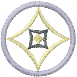 Circle Diamond embroidery design