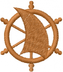 Sail Wheel embroidery design