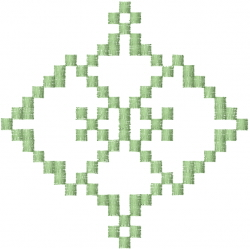 Pixel Diamonds embroidery design