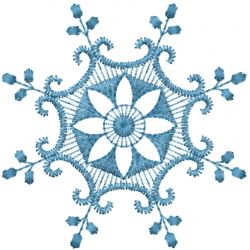 Floral Snowflake embroidery design