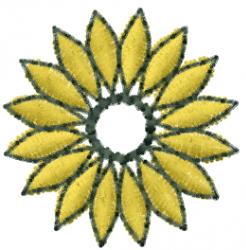 Floral Spiral embroidery design