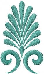 Fanning Swirl embroidery design
