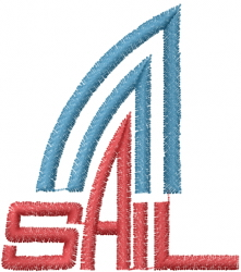 Sail Sign embroidery design