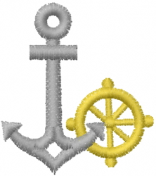 Anchor Wheel embroidery design