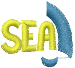 Sea Sign embroidery design