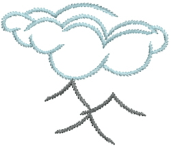 Mountain Outline embroidery design