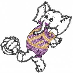 Soccer Elephant embroidery design