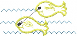 Swim Fish embroidery design