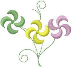 Flower Bundle embroidery design