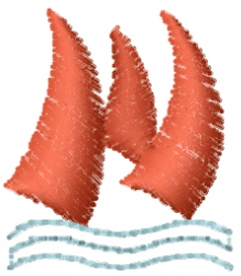 Sails Water embroidery design