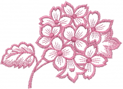 Hydrangea Bundle embroidery design
