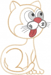 Hungry Cat embroidery design