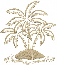 Palm Island embroidery design