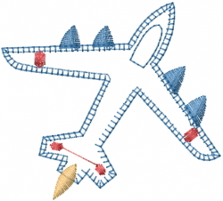 Patchwork Airplane embroidery design