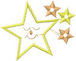 Sleeping Stars embroidery design