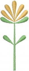 Stemmed Flower embroidery design