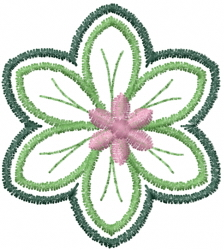 Layered Flowers embroidery design