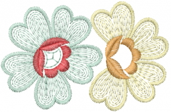 Hearts Flowers embroidery design