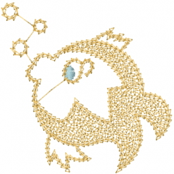 Fish Bubbles embroidery design
