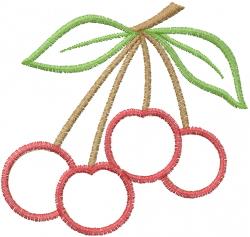 Cherry Applique embroidery design