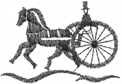 Antique Carriage embroidery design