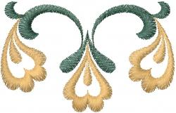 Graphic Floral Vine embroidery design