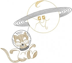 Space cat embroidery designs machine embroidery designs for Space embroidery patterns