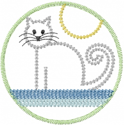 Kitty Patch embroidery design