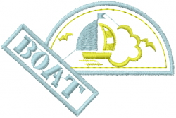 Boating Patch embroidery design