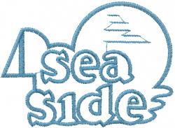 Sea Side Applique embroidery design
