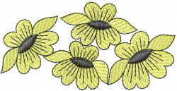 Sunflowers Circle embroidery design