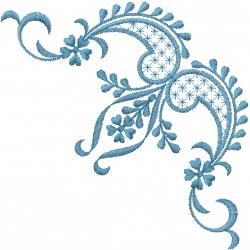 Paisley Swirls embroidery design