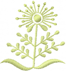 Art Deco Flower embroidery design