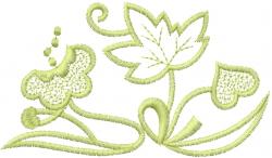 Art Deco Floral Vine embroidery design
